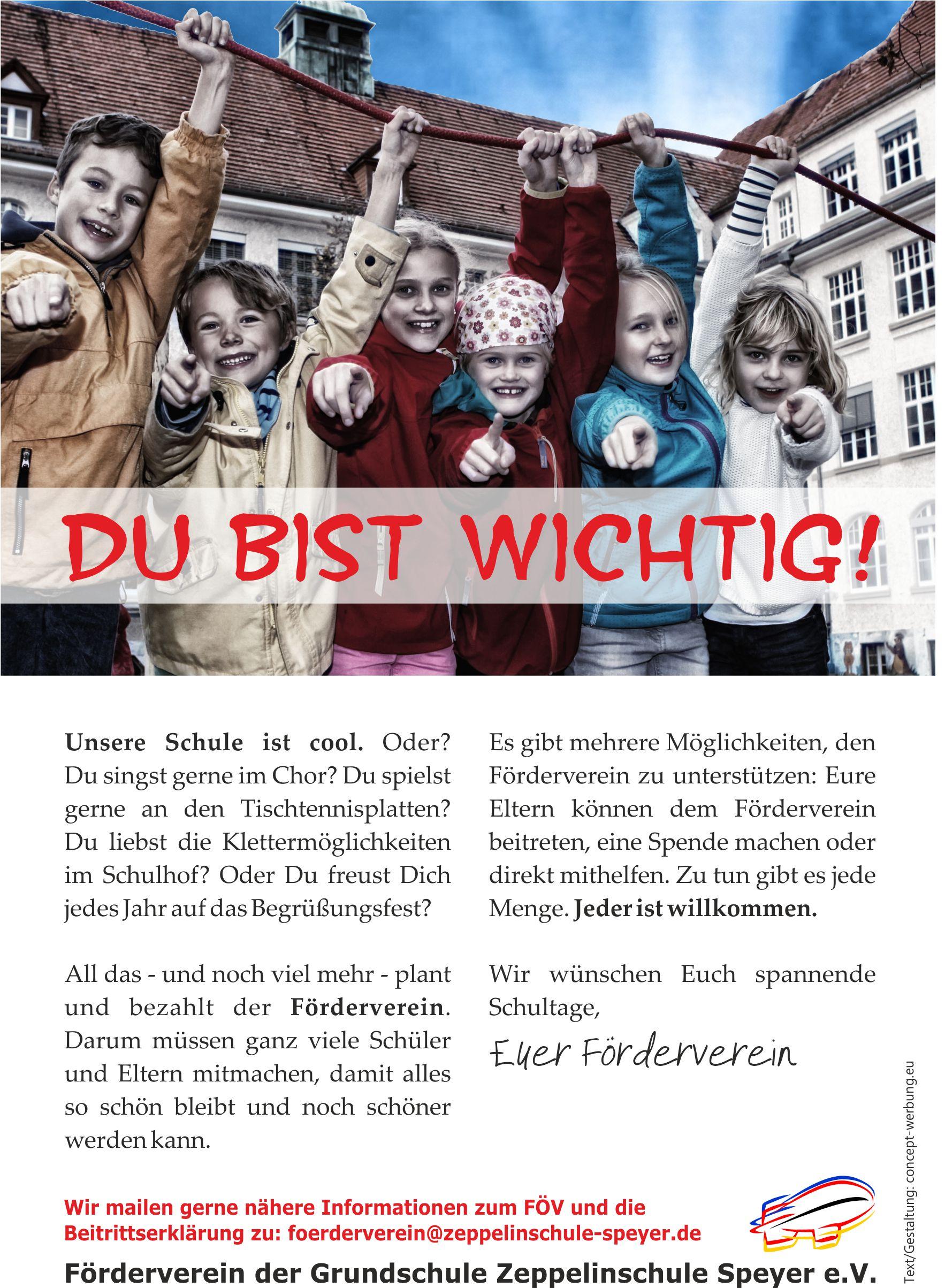Keine gelingende Schule ohne Förderverein!
