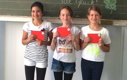 Schulsiegerinnen im Vorlesewettbewerb